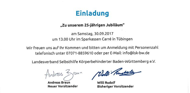 Einladung 25j 3